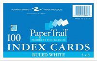 5x8 Ruled Index Cards