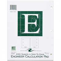 Engineer Calculation Pad (Graph Paper) - 200 sheets