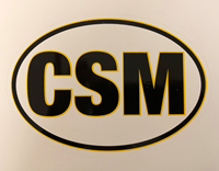CSM Oval Car Decal