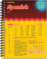 Barcharts Spanish Study Notebook